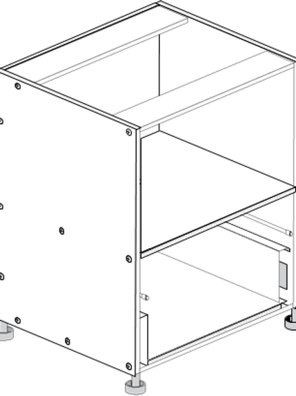 Base Cabinet with 1 Drawer 600