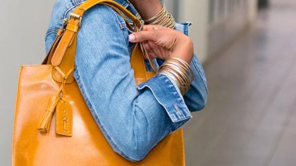 Joan C Genuine Leather Classic Tote