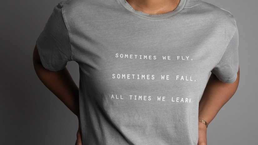 All times We learn - inspirational tee