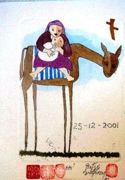 #119 Xmas Cards Paintings
