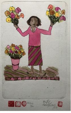 #103 Flower Seller