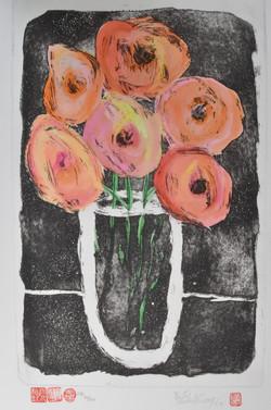 #354 Oval Vase (color)
