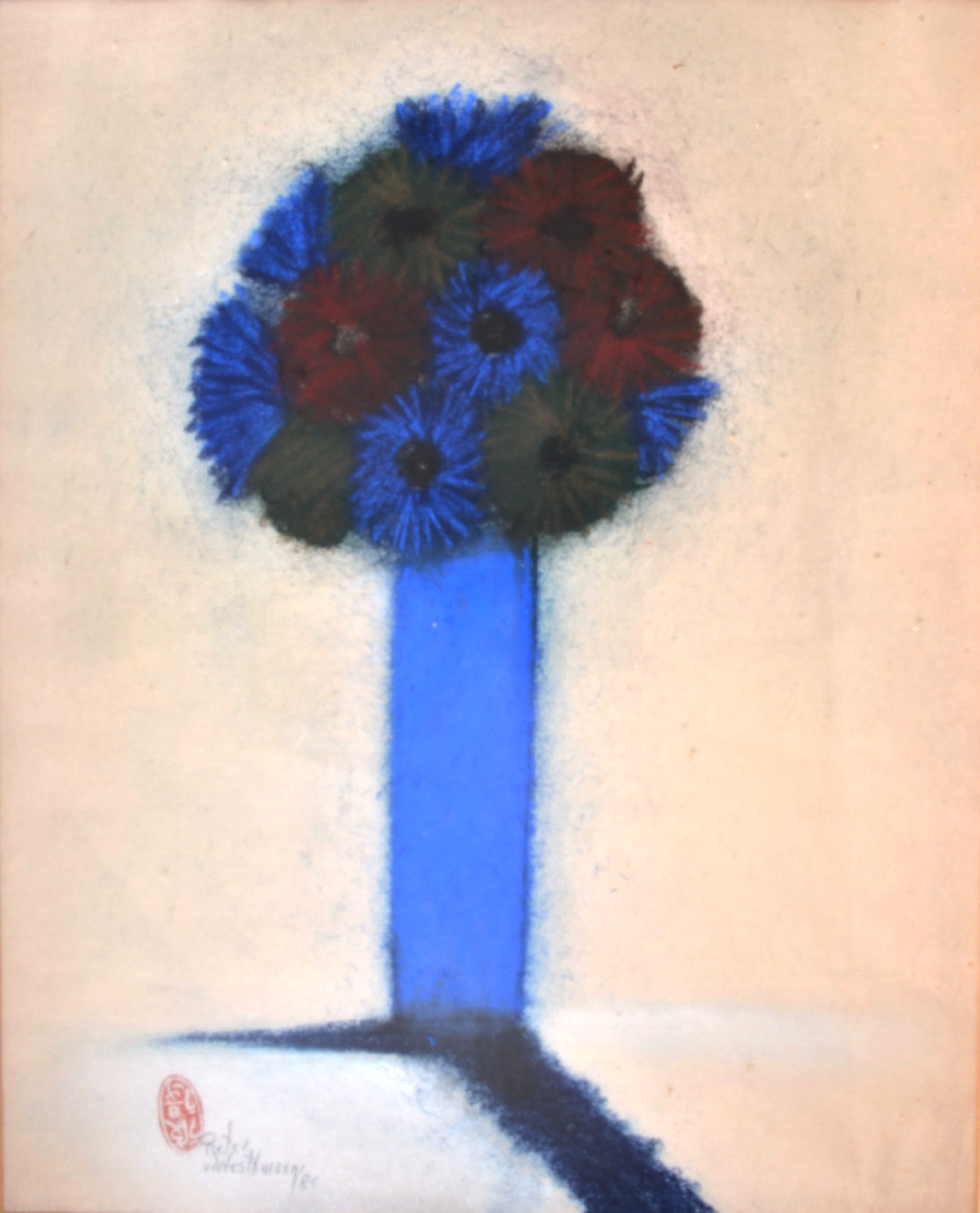 #211 Blue Vase Double Shadow