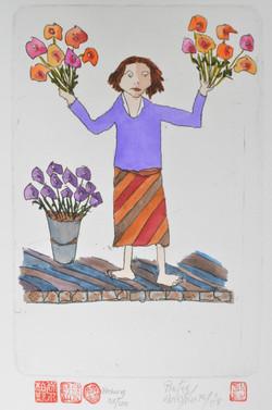 #9 Flowerseller (purple)