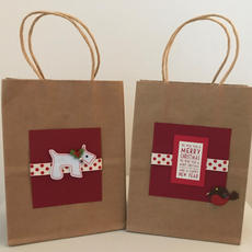 Handmade Gift Bags 20 x 15 x 9cm