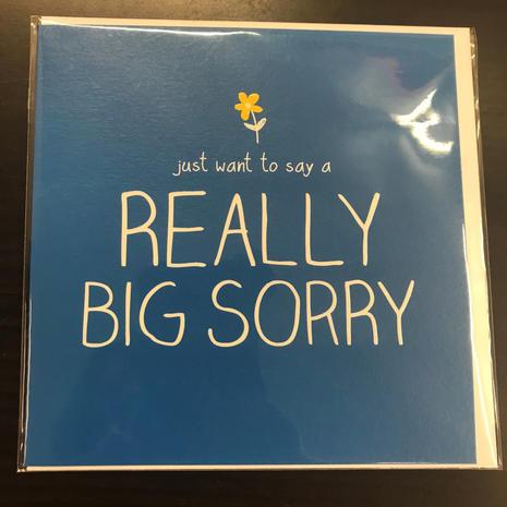 Really Sorry Card