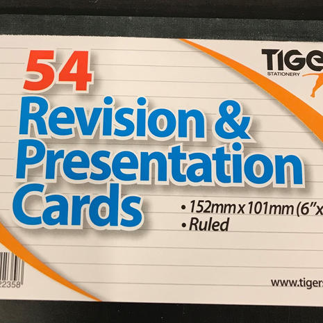 Revision Cards