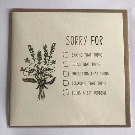 Sorry for...Card