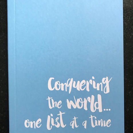 'Conquering' A6 Lined Notebook