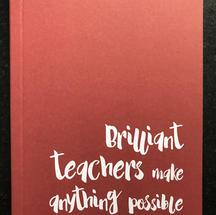 'Teachers' A6 Lined Notebook