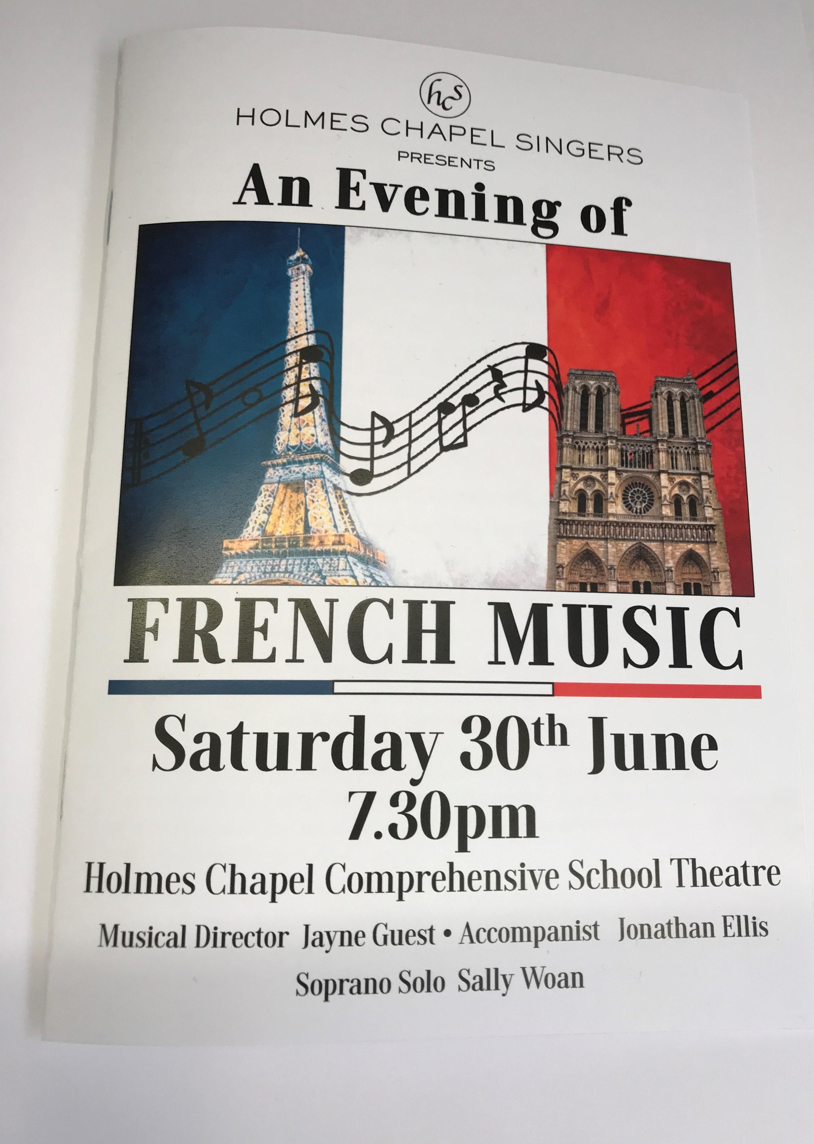 H C Singers Programme