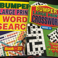 A4 Large Print Puzzle Books