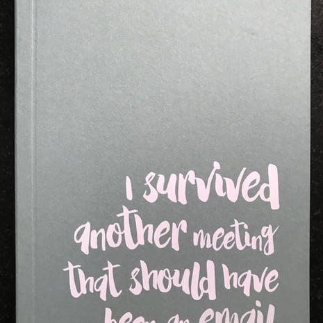 'I Survived' A6 Lined Notebook