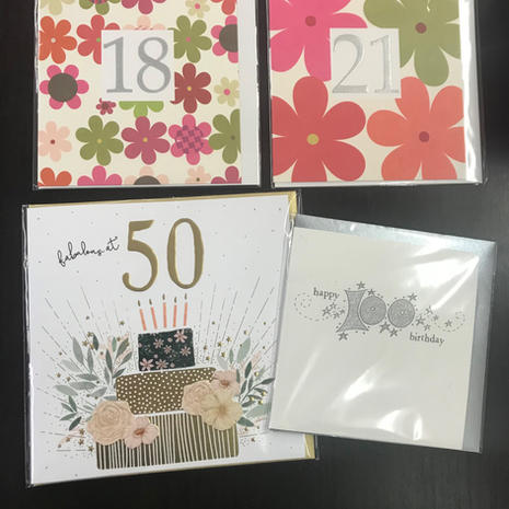 Birthday Cards - Ages
