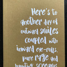 'Outward Smiles' A6 Lined Notebook