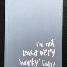 'Worky' A6 Lined Notebook