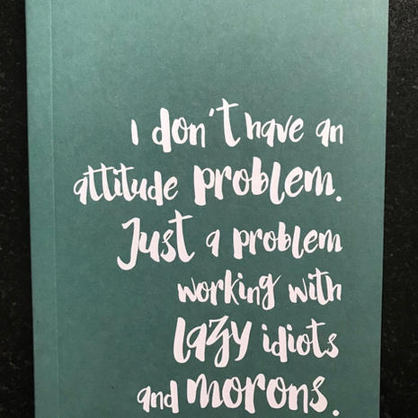 'Attitude' A6 Lined Notebook