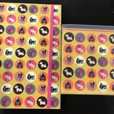 Dog Design A5 Notebook & Note Block