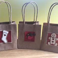 Small Handmade Gift Bags 10 x 9 x 8cm