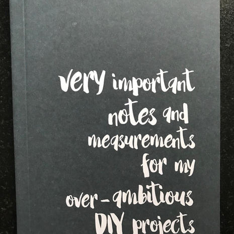'DIY' A6 Lined Notebook