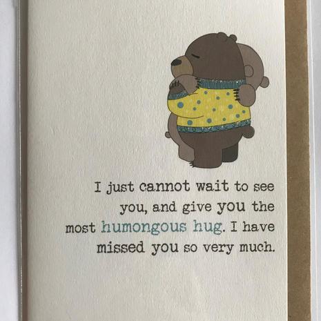 Humongous Hug Card