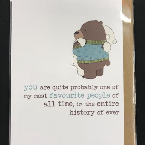 Favourite People Card