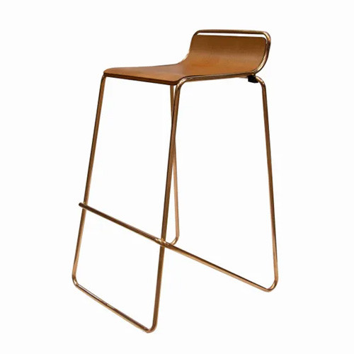 Ideal Stool Gold / Woodgrain $27