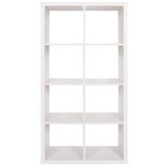 2x4 White Shelving Unit $85