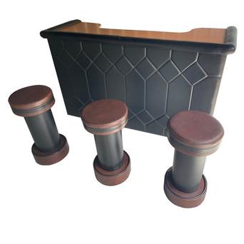Retro bar and stools $350