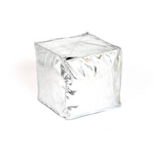 Silver Cube Bean Bag $16
