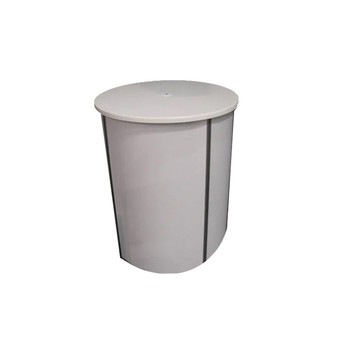 White Round Lockable Counter $120