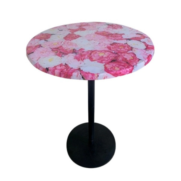 Rose Top Round Bar Leaner $60