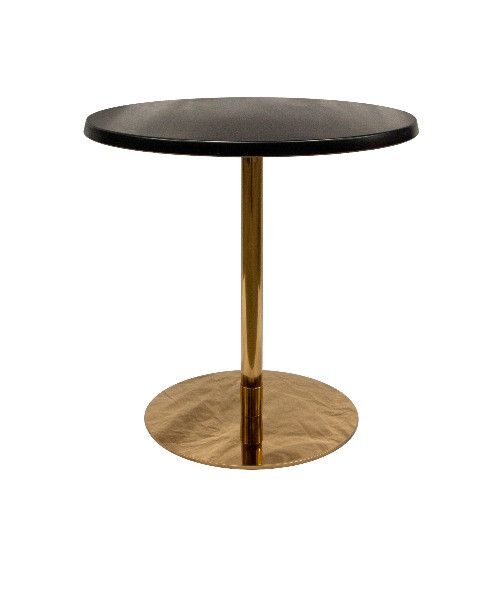 Ideal Cafe Table Gold / Black $50