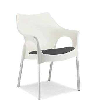 White Ola Chair $24