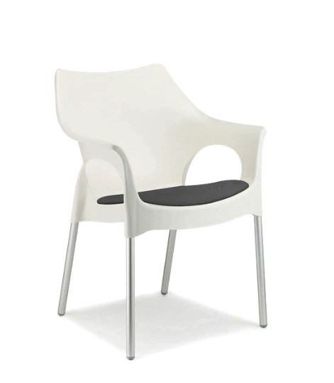 White Ola Chair $24