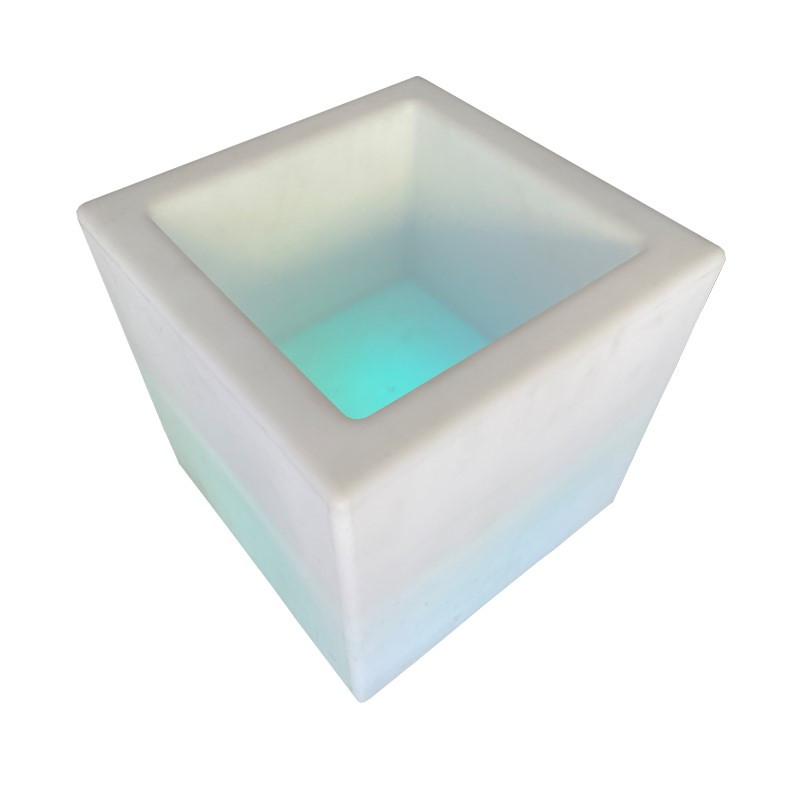LED Glowing Open Ottoman $35