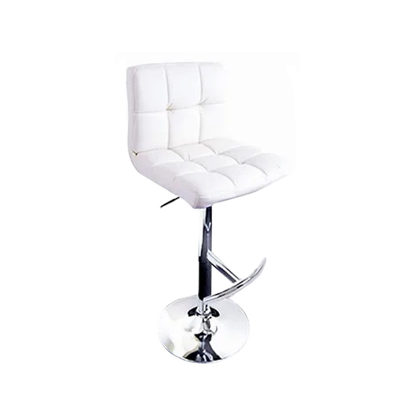 White Padded Upright Stool $70