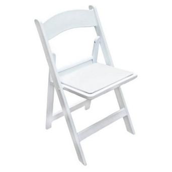 White Folding Chair $7