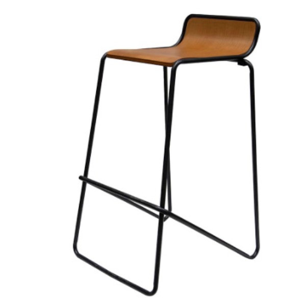 Ideal Stool Black / Woodgrain $27