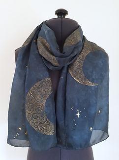 Gold Moon Silk Scarf