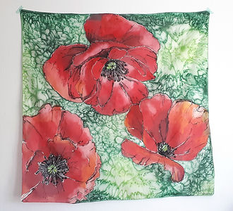 Poppies Silk Scarf