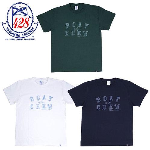 BOAT CREW柄プリント半袖Tシャツ