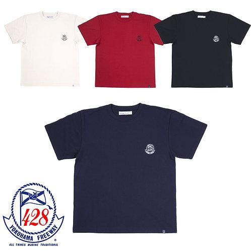 428柄ワンポイント刺繍半袖Tシャツ
