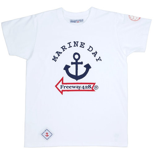 """""""MARINEDAY&FREEWAY""""プリントTシャツ"""