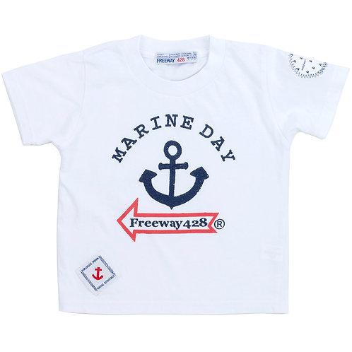 """MARINEDAY&FREEWAY""プリントTシャツ【キッズサイズ】"