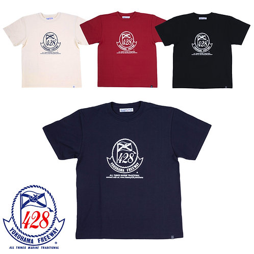 428ロゴ柄プリントTシャツ