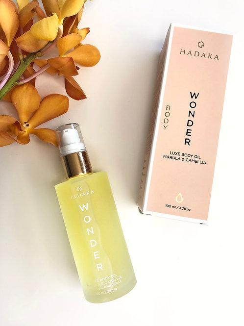 HADAKA WONDER Luxe Body Oil. Marula and Camellia