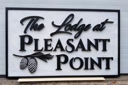 Lodge at pleasant point main sign photot