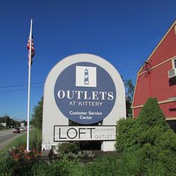 Kittery Outlet After June 15 signage upd