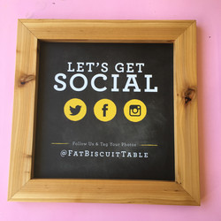 Fat Biscuit small sign